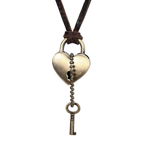 1676486d9cff Mejor Daesar Collar Acero Inoxidable Hombre Collar Hombre Collar Colgante Corazón  Llave Collar de Hombre Collar
