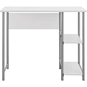 Affordable Mainstays Basic Student Space Saver Desk White Kitchen Dining