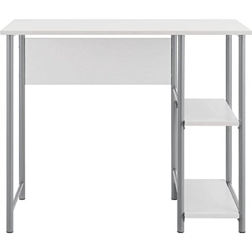 Affordable Mainstays Basic Student Space-Saver Desk (White) by Mainstay