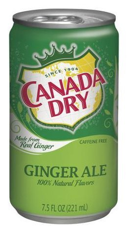 Canada Dry Ginger Ale Soda (Canada Dry Ginger Ale in 7.5 oz Can (Case of 24))