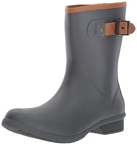 Chooka Women's Mid-Height Memory Foam Rain Boot, Charcoal, 10 M US by Chooka