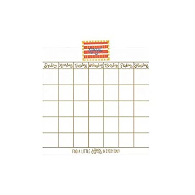 Coton Colors Happy Everything Magnetic Dry Erase 18  Wall Calendar