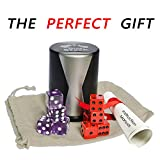 Dice Stacking Cup Set with 4 Pcs 19mm Purple and