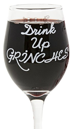 Funny Guy Mugs Drink Up Grinches Christmas Wine Glass, 11-Ounce - Unique Gift for Women, Mom, Daughter, Wife, Aunt, Sister, Girlfriend, Teacher or Coworker (Several Styles To Choose From)]()