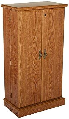 "Sauder 401349 Orchard Hills Multimedia Storage Cabinet, 23.47"" L x 13.78"" W x 43.78"" H, Carolina Oak finish"