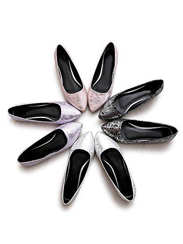 Depolie 03 Rose Ochenta Simple Couleur Femme Pointue Brillante Plates Ballerines Mode aa4S1PI