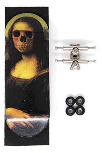Skull Fingerboards Mona 34mm Complete Professional Wooden Fingerboard Mini Skateboard 5 PLY with CNC Bearing Wheels by Skull Fingerboards (Image #7)