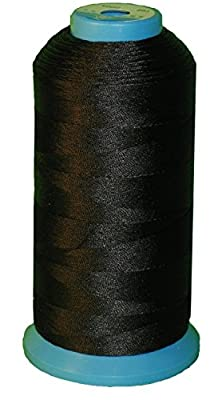 Generic Black Bonded Nylon Sewing Thread 1500 Yard Size T70 #69 for the Upholstery, Outdoor Market, Drapery, Beading, Luggage, Purses from Dotop