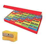 Eisen 25-Pack Pencil Sharpeners with German Blades, Assorted Colors (ESN-105)