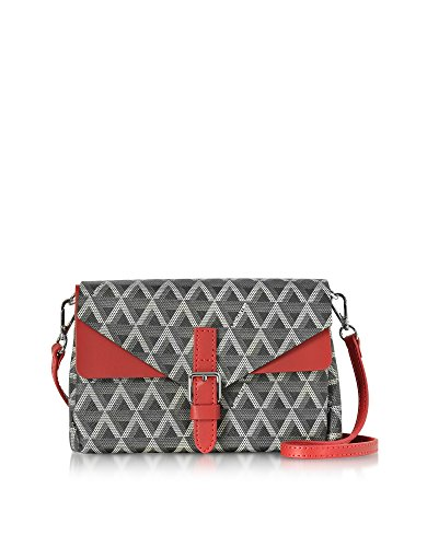 lancaster-paris-womens-5181noirrouge-black-canvas-clutch