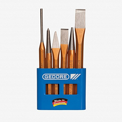 GEDORE 106 Chisel and Punch Set 6 pcs in Plastic Holder