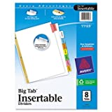 Avery WorkSaver Big Tab Dividers, Multicolor
