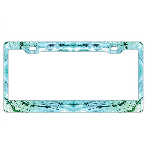 LLgLOOhOPPPJDh Ayibagexi Automotive Exterior Accessories Star Inside Square Shaped Kaleidoscope Tie Dye Motive with Outer Figures License Plate Frame - Plate Car Holder ()