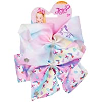 "Official JoJo Siwa""Tye Dye Unicorn & Unicorn"" 2 Pack Hair Clip Bow Set with Charms"