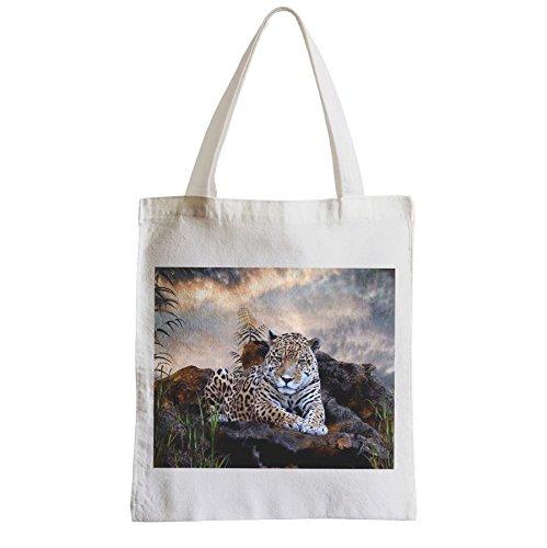 d63bc84012ec0 Große Tasche Sack Einkaufsbummel Strand Schüler Südamerika Jaguar ...