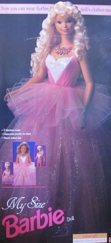 MY SIZE BARBIE DOLL w 3 Fabulous Looks: Evening! Ballerina! Daytime! (1992) - Barbie Costumes Ballerina Slippers