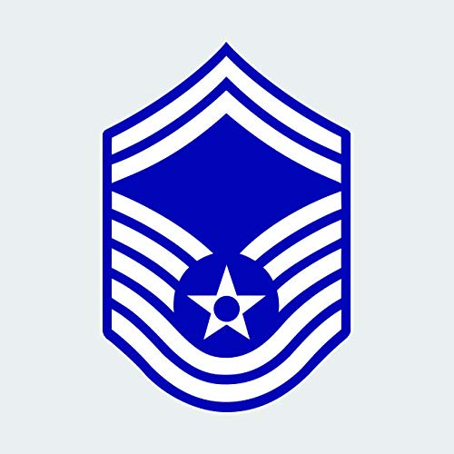 (E-8 Senior Master Sergeant SMSgt OR-8 Sticker FA Graphix Vinyl Decal - 3.00 Wide)