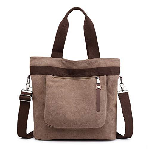 Bag Messenger Casual Mode Capacité Grande Sacs Voyage Épaule CHENGYI Mesdames Crossbody Satchel Brown Toile 1qEt6T