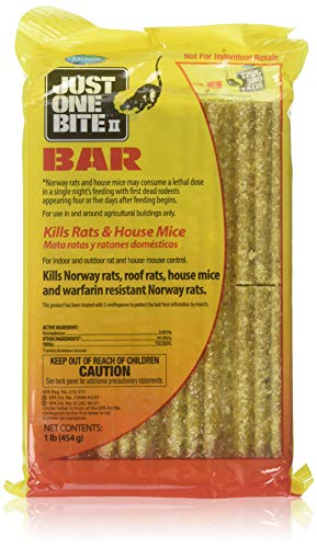 New Case of (8) 16oz Bars Just One Bite Ii Rat Mouse Bait Killer #9997651 Sale