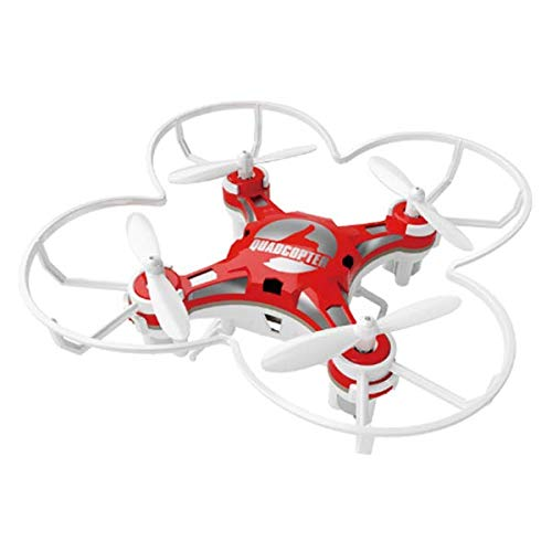 FQ777-124 Pocket Drone 4CH 6Axis Gyro Drone Quadcopter with Switchable Controller RTF - Red