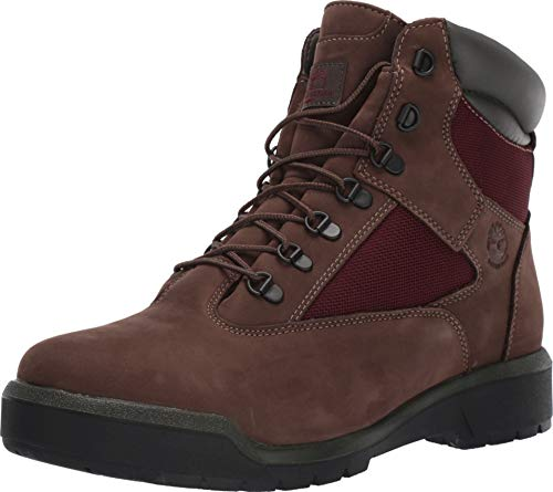 "Timberland Men's Field Boot 6"" F/L Waterproof Dark Brown Nubuck 11.5 D US"