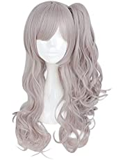 SeSDY Wig Girl Front Line Cos Wig Harajuku Mixed Color Anime Wig Lolita Long Curly Clip On Ponytails Cosplay Wig Ms. Anime Wig