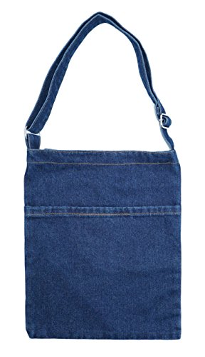 Shoulder Yunzh School Travel Denim Handbag Bag Canvas Tote Shopping Blue Pockets wr0BrIq8