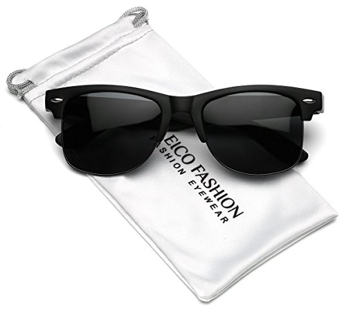 Polarized Half Frame Classic Retro - Sunglasses Heads Wayfarer Style For Big