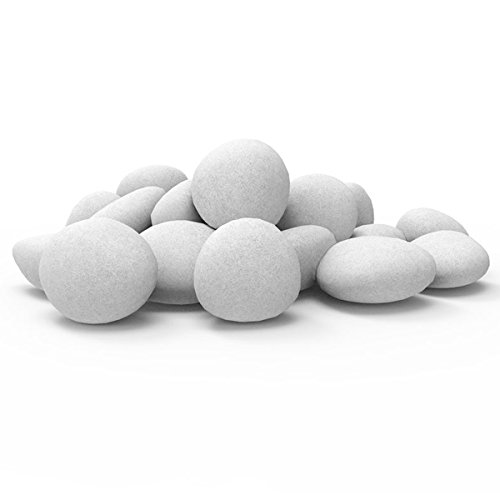Cheap Regal Flame Set of 24 Light Weight Ceramic Fiber Gas Ethanol Electric Fireplace Pebbles in White Black Friday & Cyber Monday 2019