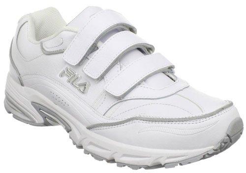 Fila Men S Comfort Trainer Velcro Sneaker White White