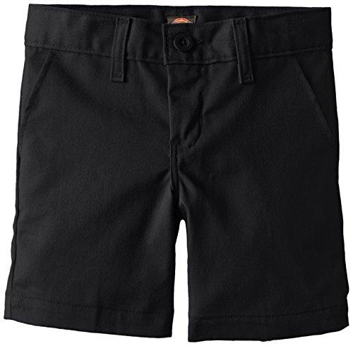 Dickies Khaki Little Boys' Flex Waist Stretch Flat Front Short, Black, 5