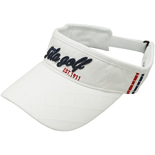 フィラ FILA 帽子 サンバイザー 787900 ホワイト フリー