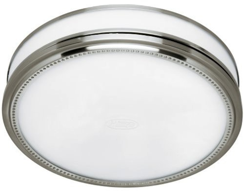 Bath Fan Hunter (Hunter 83001 Ventilation Riazzi Bathroom Exhaust Fan with Light, Brushed Nickel (Bathroom Vent Fan or Exhaust Fan))