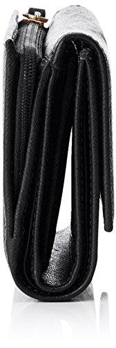 COCCINELLE C2 Yu6 Saffiano 116601, Cartera de Mano para Mujer, 0.1x10x18 cm (W x H x L) Negro (Black)