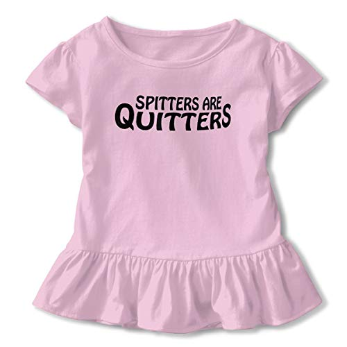Kim Mittelstaedt Spitters are Quitters Children's Short Sleeve T-Shirt Girl's Cute Soft Cotton Dress Pink 4T