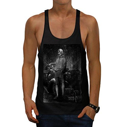 Skull Costume Body Zombie Art Men S Gym Tank Top | Wellcoda