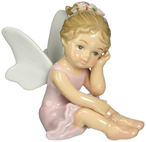 Praying Angel Porcelain - Cosmos 10075 Fine Porcelain Ballerina Angel Thinking Figurine, 3-1/2-Inch