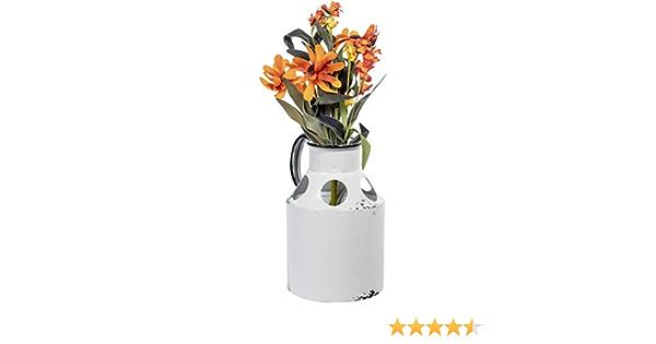 Rustique Texture Métal pitcher pichet jardiniere Fleur Ornement Cadeau Shabby Chic 19 cm