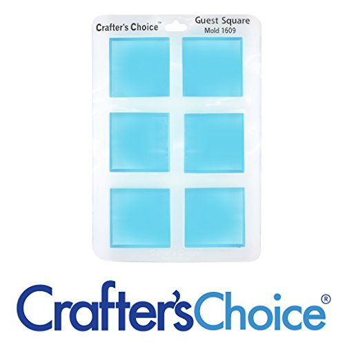 Silicone Soap Mold - Square Guest Silicone Mold 1609 Crafter's Choice