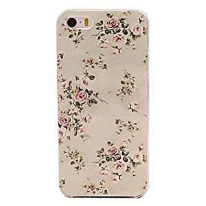 LCJ Beautiful Flower Pattern Embossment PC Hard Case for iPhone 5/5S