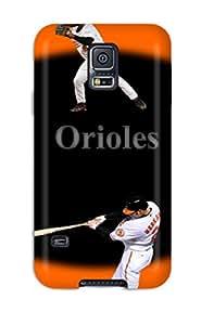 Flexible Tpu Back Case Cover For Galaxy S5 - Baltimore Orioles