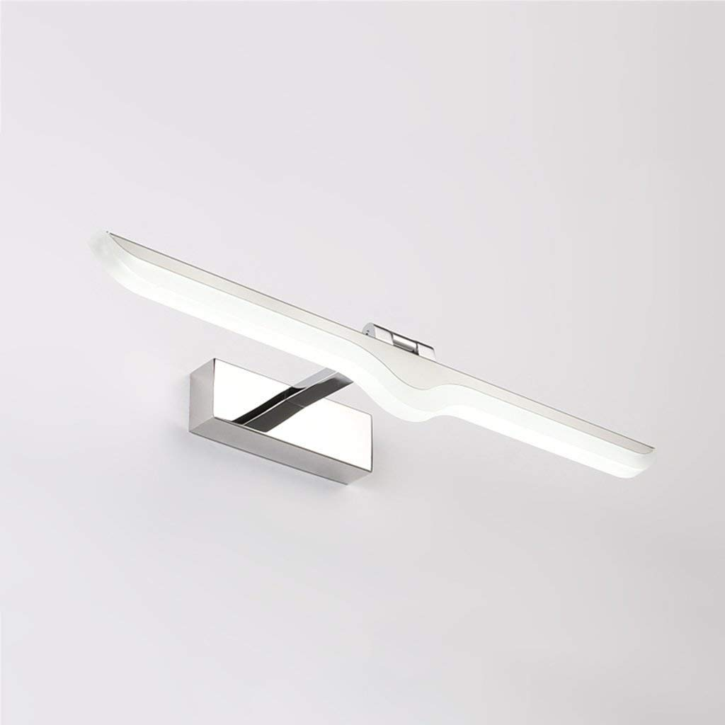 FuweiEncore Badezimmer Spiegelleuchte LED Spiegelleuchte einfache Moderne Wasserdichte Badezimmerwandlampe (Farbe  Warmes Licht-42cm) (Farbe   Weiß Light-52cm, Größe   -)