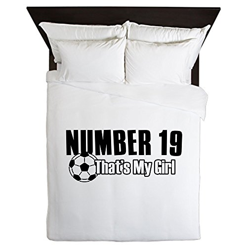 CafePress - Proud Soccer Parent Of Number 19 - Queen Duvet Cover, Printed Comforter Cover, Unique Bedding, Microfiber by CafePress