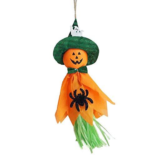 shengyuze Halloween Door Hanging, Halloween Horror Ghost Trick Indoor Hanging Pendant DIY Props Party Decoration - Orange]()