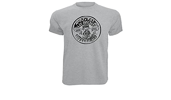 Camiseta Fito Impresion Premium Negra y Plateada Rock Algodon Calidad 190grs QXXsU64s5r