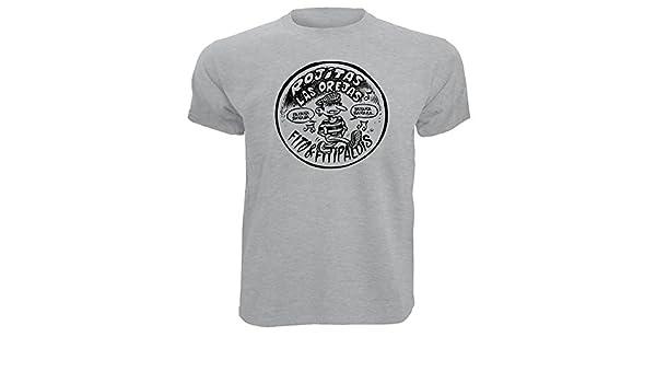 Camiseta Fito Impresion Premium Negra y Plateada Rock Algodon Calidad 190grs