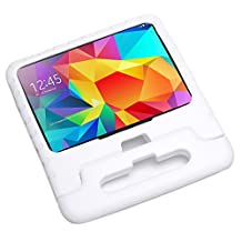 """Pwr+ Samsung-Galaxy-TAB-4-10.1-inch Case-for-Kids Protective-Sleeve-Cover White : Guardian KickStand with Handle for Samsung Galaxy TAB 4 10.1""""-inch Kid Friendly Shockproof Light Weight Tablet Tab Stand"""