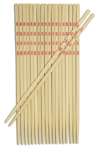 Joyce Chen 30-0043 Bamboo Table Chopsticks, 10 -
