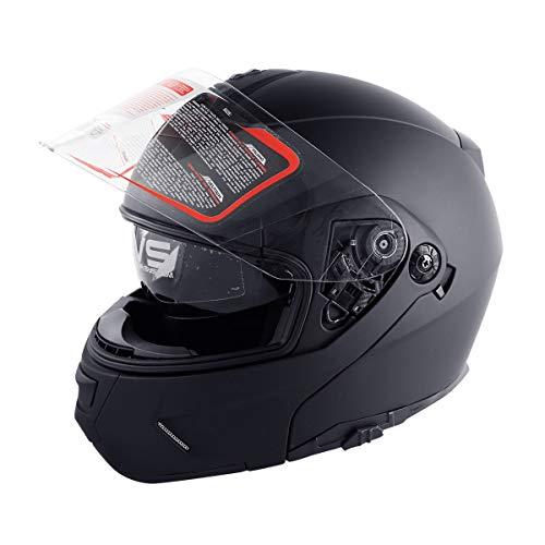 TCMT DOT Dual Visor Flip Up Motorcycle Helmet Motocross Full Face Street Bike (L)