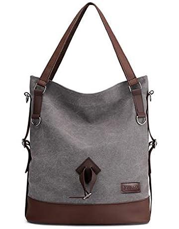 afd286ca8623d Womens Canvas Shoulder Bag Ladies Rucksack Vintage Handbags, JOSEKO Large  Capacity Backpack Bag Vintage Crossbody